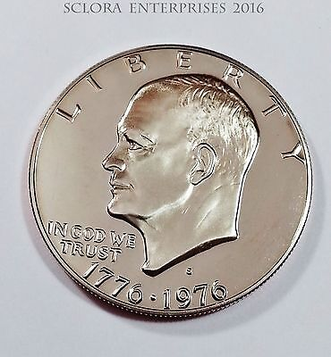 1976 S Eisenhower *proof* Dollar Coin Type Ii (2)  **free Shipping**