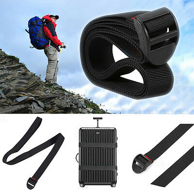Durable Black Outdoor Quick Release Luggage Suitcase Packing Strap Tie Belt ZY