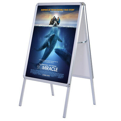 A1 A-board Display Frame Snap Poster Stands Pavement Sign Double Side Stand