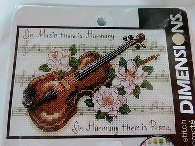 Stunning Dimensions Counted Cross Stitch Kit *music Is Harmony*