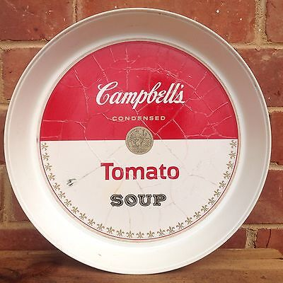 VINTAGE Retro CAMPBELL'S SOUP Plastic SERVING TRAY Thermo-Serv USA POP ART