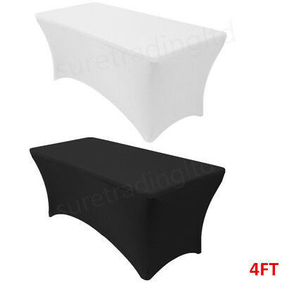 Spandex Lycra Fitted Tablecloth 4Ft Rectangle Trestle Tablecloth Table Cover