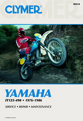 Clymer Workshop Repair Manual Yamaha It125 It175 It200 It250 It400 It465 It490