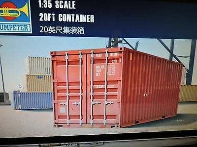 TRUMPETER 1/35TH scale 20' SEA CONTAINERS MODEL KIT #01029