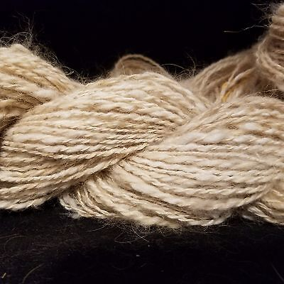 CRAZY Handspun yarn French Angora Rabbit & Baby Alpaca worsted wt 2 ply 100 yds