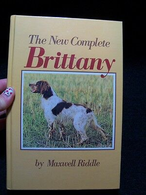 The New Complete Brittany Vintage Book Breed History Illustrated Maxwell Riddle
