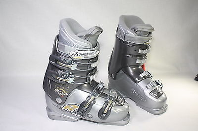 NEW! NORDICA ONE 40 W Women's Ski Boots Size 23.5 Light Gray NEW!