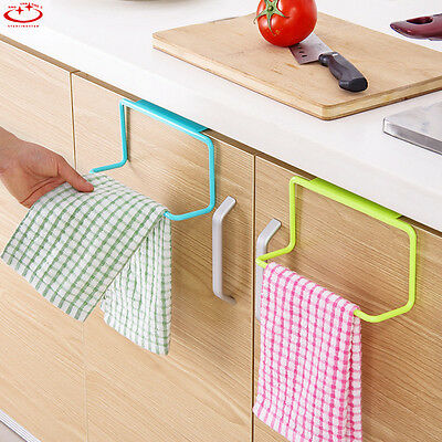 Over Door Towel Rack Bar Hanging Holder Bathroom Kitchen Cabinet Shelf Rack