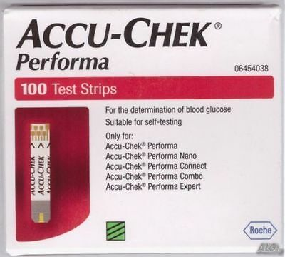 ACCU- CHEK PERFORMA 500 TEST STRIPS NEW STOCK -may  2018 FREE SHIPPING