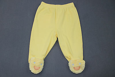 VINTAGE CARTERS Baby Pants YELLOW DUCK 0-3 months Footed Duck Feeties