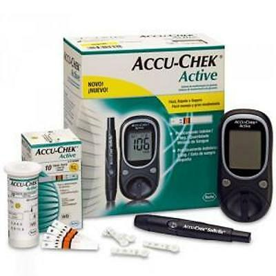 Accu Check-Active Glucometer Blood Glucose Digital Monitor With 10 Free Shipping
