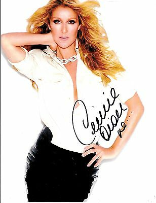 Celine Dion Hand Signed Autograph Photo Loved Me Back To Life Authentic