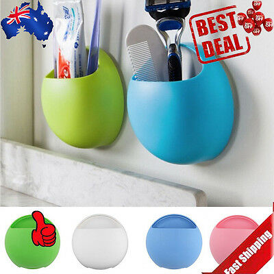 Home Bathroom Toothbrush Wall Mount Holder Sucker Suction Cups Organizer AA