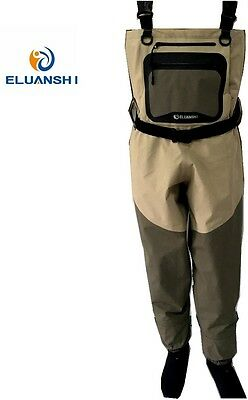 Portable Large Chest Fishing Pants Waterproof Breathable Socks Waders Conjoined