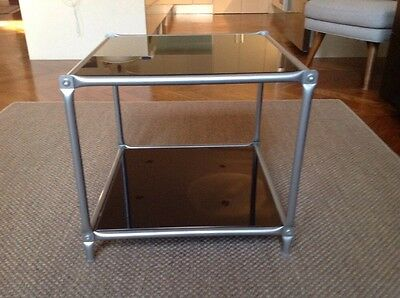Handy Glass Top Table Sauare