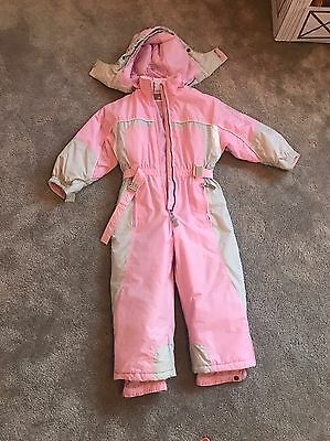 Girls Pink ski suit by Rodeo age 4-6, 104cm Height On Label