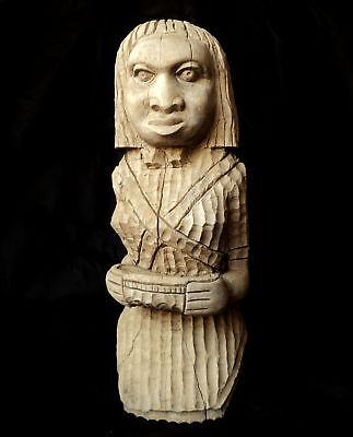 Antique Mexican Worship Wooden Carved, Native American, Indian Mayan Statue