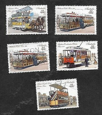 Australia #1154-8 1989 Trams and Trolleys (5)