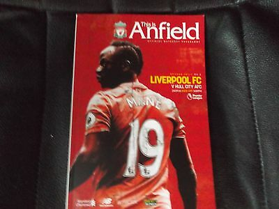 Liverpool V Hull City Premier League 2016/17 Official Programme
