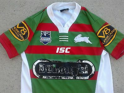 kids size South Sydney Rabbitohs fully sponsored NRL rugby league jersey