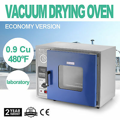 0.9 Cu Ft 480°F Lab Vacuum Air Convection Drying Oven stoving 250℃ UPDATED