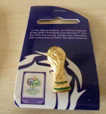 FIFA World Cup Germany 2006 metal Trophy Pin Badge Official Licensed Product