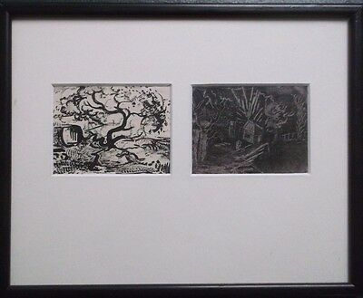 FRAMED PEN AND INK DRAWINGS POSSIBLY FRANS MASAREEL 1889-1972 signed verso