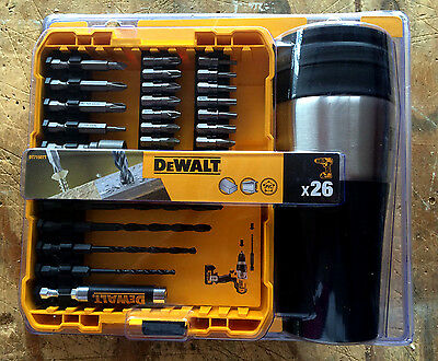 DeWalt DT71507T 26pc Drill/Screwdriving Bit Set + Thermal Mug