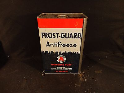 Vintage Frost- Guard Anti Freeze Can  One Gallon  Gas