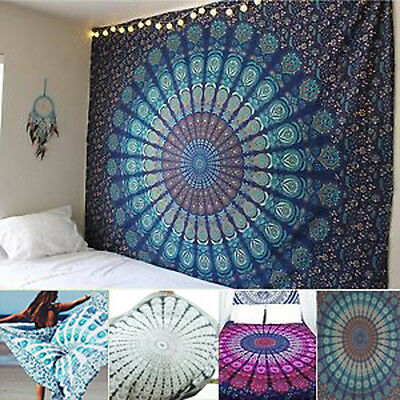 Indian Mandala Wall Hanging Hippie Tapestry Throw Bedspread Table Cloth Art Mats