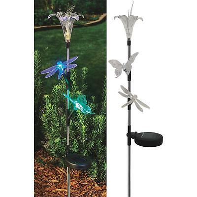 Solaris Flower/Insect Trio Solar Stake Light