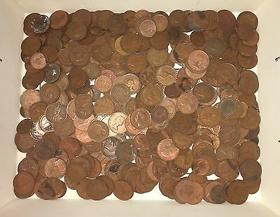 AUSTRALIAN HALF PENNY AND PENNY BULK LOT 2.8kg Coin Bulk UNSORTED*