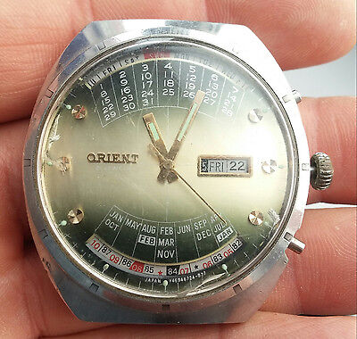 Orient Calendar Balance Is Ok - For Repair Or  Parts