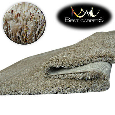 FLUFFY CHEAP SOFT CARPETS SHAGGY 'NARIN BEIGE' HIGH QUALITY nice in touch