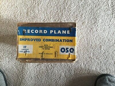 RECORD PLANE VINTAGE 050 with 17 tungsten cutters and original box