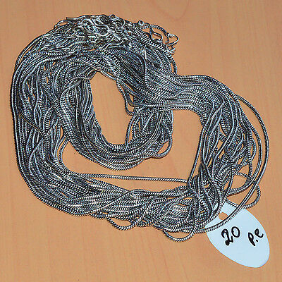 Wholesale 20Pc 925 Silver Plated Black Oxidized Gs Silver Chain Necklace Lot