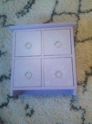 lilac light purple boho chinese style cabinet drawers unique  floral