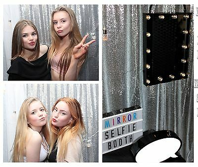 Mirror Selfie Photo Booth Hire Yorkshire, Unlimited Prints!