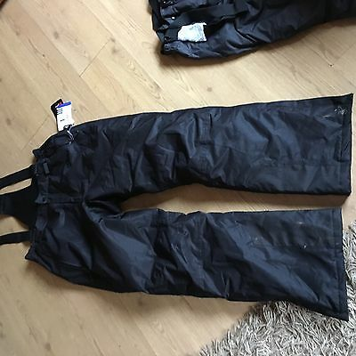 Mens Ski/ Snowboard Salopettes Large Black BNWT