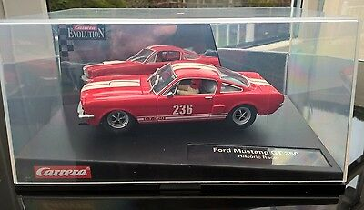 Carrera Ford Mustang GT 350 Slot Car Excellent  and  boxed  1/32 scale