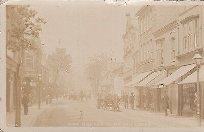 Leicester, King Richards Road Real Photo Postcard used 1905 to Gateshead