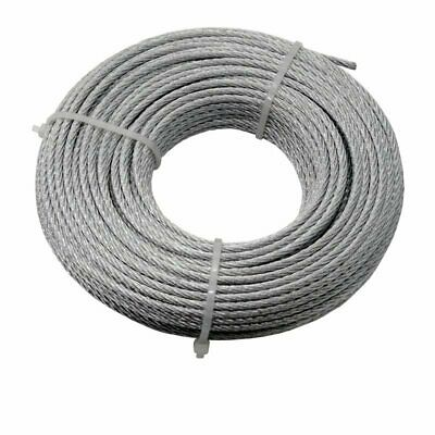 Catenary Wire Rope 3mm Galvanised Steel 7x7 Strand - Choose Length