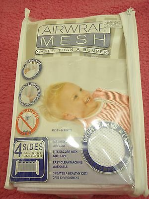 baby cot bumper air wrap - 4 sides - new in packet but been taken out