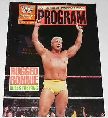 Wwf Program 1989 Vol Issue 173 Magazine Wwe Rugged Ronnie Garvin Cover Andre