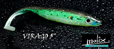 "Artificiale Molix Virago 5"" Soft Bait Shad Spinning Blister 4 Pezzi"