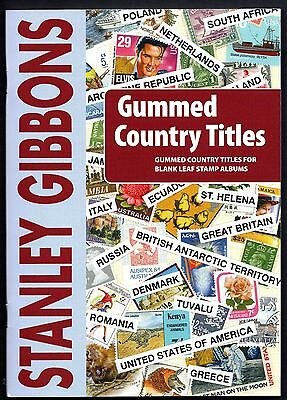 Stanley Gibbons Gummed Country Label Tile Booklet 2,500+ Titles &  690 Countries