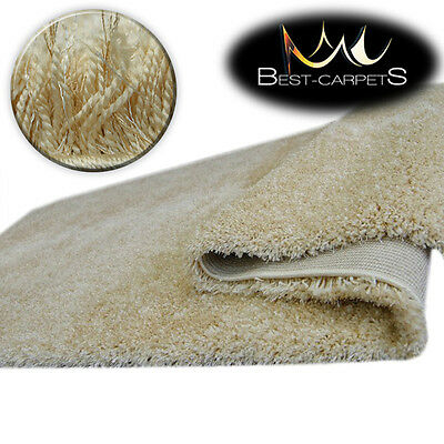 FLUFFY CHEAP SOFT CARPETS SHAGGY 'NARIN GARLIC' HIGH QUALITY nice in touch
