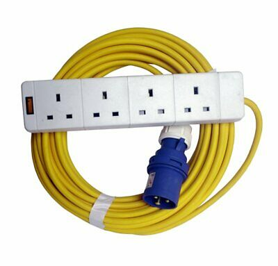 caravan mains hook up extension lead