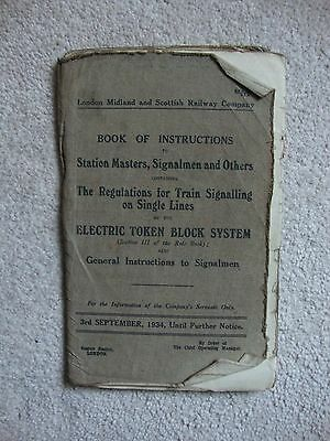 1934 Book Of Instructions Station Masters - Signalmen And Others