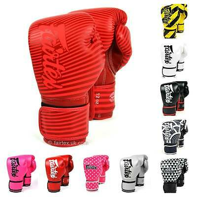 Fairtex Muay Thai Lightweight Microfibre Boxing Gloves - All Colours
